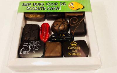Verras papa met zijn favoriete chocolade!